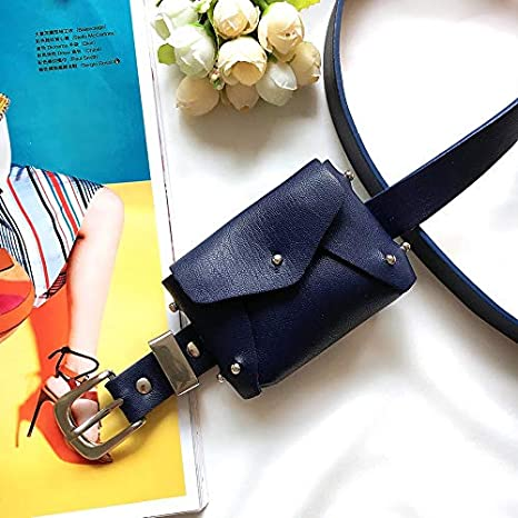 f5162aaa21a Amazon.com: DHmart Fashion Simple Waist Bag Ladies Mini Rivet Waist ...
