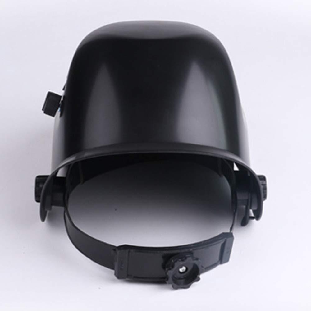 LAIABOR Casco de Soldadura Auto oscurecimiento Anti-deslumbramiento Anti-Splash Soldador Tapa de la Cabeza-montado Soldadura eléctrica máscara Protectora,A: ...