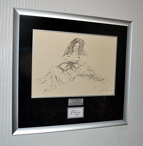 John Lennon BAG ONE Art Erotica LITHOGRAPH, Signed YOKO ONO Autograph, Museum Frame, COA, UACC, Free U.S. SHIP!