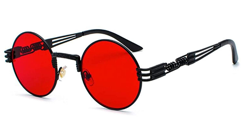 Amazon.com: Vintage Retro Gothic Steampunk Mirror Sunglasses ...