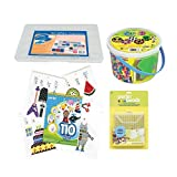 Perler Beads Kit Bundle with Square Pegboards 6000 Count Bucket Multi Mix Bead No Spill Organizer & Pattern Pad