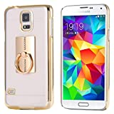 Samsung Galaxy Note 3 Ring Stand Case-Aurora® Soft Slim TPU Case Cover for Samsung Galaxy Note 3 with 360 Degree Rotating Ring Stand (Samsung Note 3 Gold)