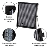 K&N VF2044 Washable & Reusable Cabin Air Filter Cleans and Freshens Incoming Air for your Cadillac, Chevrolet