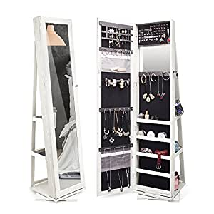 Amazon Com Twing 360 Rotating Jewelry Cabinet Lockable