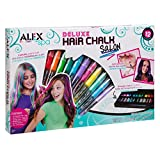 ALEX Toys - Spa Fun, Tattoo's and More, Deluxe Hair Chalk Salon Activity Kit with 12-Pens, 738X