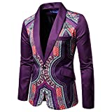 WUYIMC Hot Men's Jackets Casual African Indian Print Dashiki Long Sleeve Fashion Personality Coat Tops