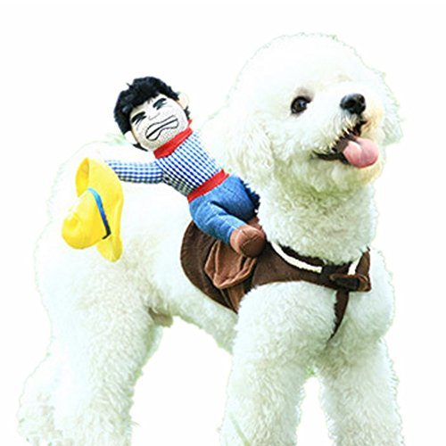 Dog Hula Costume (Pet Dog Costume Pet Suit Cowboy Rider Style Dog Suit Clothes (S))