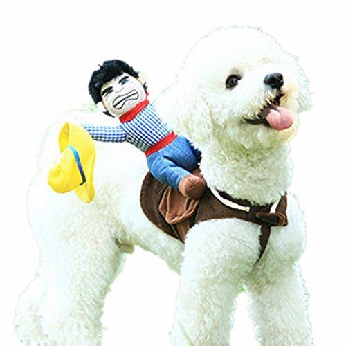 gomaomi Pet Dog Costume Pet Suit Cowboy Rider Style Dog Suit Clothes (M)]()