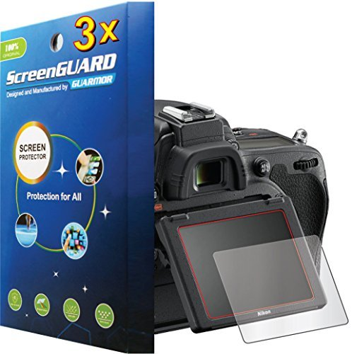 D710 Lcd - 3x Nikon DSLR D750 D710 Premium Clear LCD Screen Protector Guard Kit, Exact fit, NO CUTTING (3 pieces by GUARMOR)