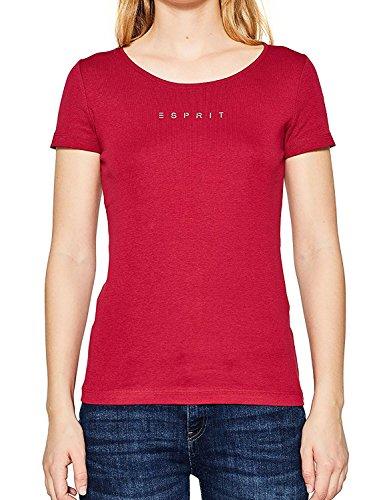 Esprit Women's Women's Red Logo T-Shirt in Size M Red Esprit Womens Tee