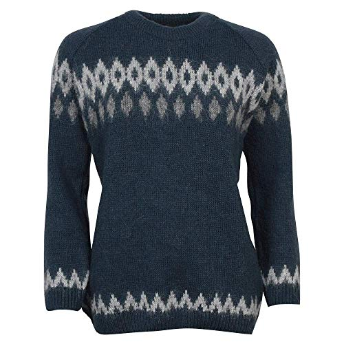 ICEWEAR Hildur warm Icelandic Wool Sweater Lopapeysa for women Blue xx-large - Wool Sweaters Icelandic