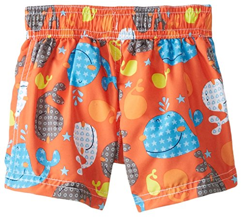 IXtreme Baby Boys' Whale Shorts, Orange, 18 Months