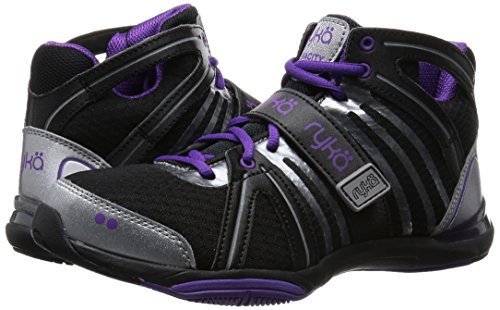 Ryka Women's Tenacity, Black/Purple, 9 M US
