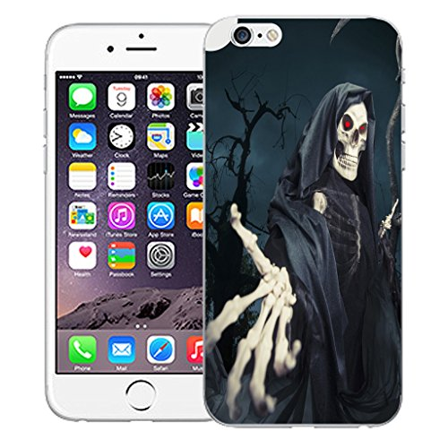 "Mobile Case Mate iPhone 6S Plus 5.5"" Silicone Coque couverture case cover Pare-chocs + STYLET - Skull Reeper pattern (SILICON)"