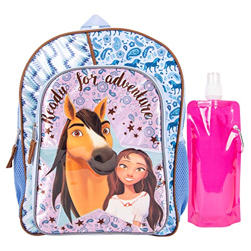 Spirit Backpack Combo Set - Spirit Riding Free 3 Piece Backpack Set - Backpack, Waterbottle and Carabina (Pink)]()