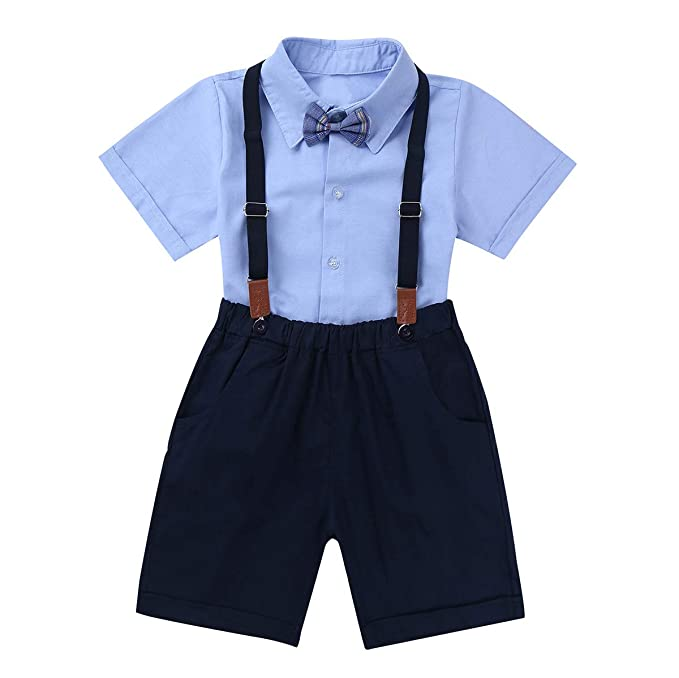 dPois Camisa Manga Corta Pantalones Navy Tirantes Conjunto ...