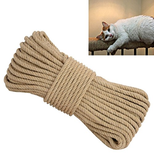 Aoneky Replacement Cat Scratching Post Sisal Rope - Hemp Rope Cat Tree Tower (1/4'' 66 Ft)