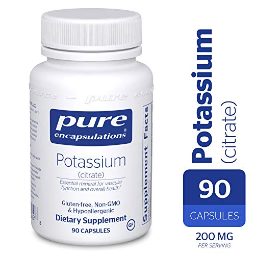 Pure Encapsulations - Potassium (Citrate) - Essential Mineral for Vascular Function and Overall Health* - 90 Capsules