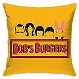 KOPDSE Bobs Burgers Soft Square Throw Pillow Case Cushion Cover 18x18