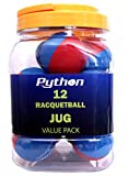 Python RG Multi Colored Racquetballs (Value Pack - 12 Ball Jug/Endorsed by Racquetball Legend Ruben Gonzalez!)