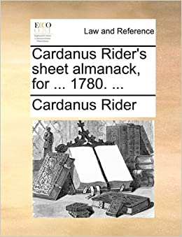 Book Cardanus Rider's sheet almanack, for ... 1780. ...