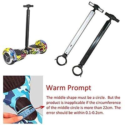 Hoverboard Handle, Balance Scooter Handle Bar, Aluminum Alloy Smart Hover Scooter Support Handlebar, Safety Handle Control Strut Stent Handlebar for 6.5