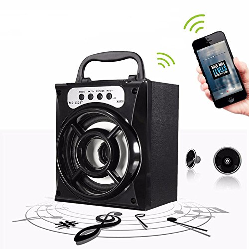 Outdoor Bluetooth Wireless Portable Speaker Super Bass with USB//AUX//FM Radio//LED