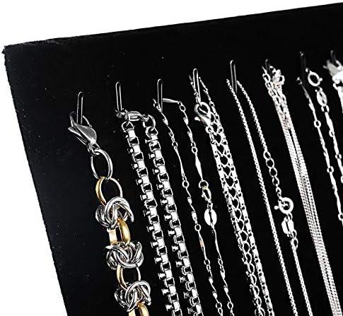 Iaywayii Junejour Flanelle Bo/îtes Afficher Boucles doreilles Collier Pendentif de Stockage en Rack Showcase Fashion Case Board 1pc