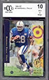 1994 sp #3 MARSHALL FAULK colts rc rookie card BGS BCCG 10 Graded Card