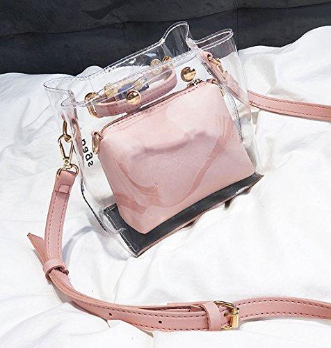 y Bolsos y Shoppers Carteras Rosa de bolsos de bandolera clutches Mujer hombro mano wvXpqaff