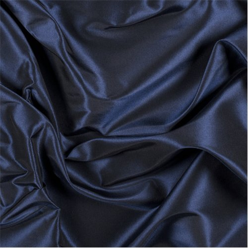 (Navy Blue Silk Taffeta, Fabric By the Yard)