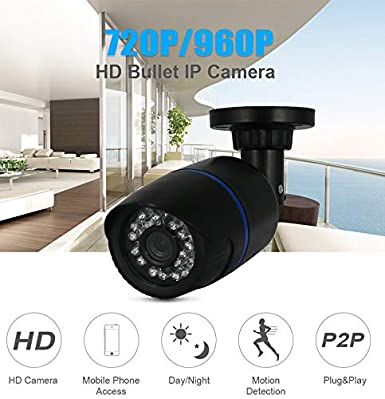XuBa IP Camera Outdoor Camera Email Alert Camera Network Camera Surveillance CCTV DC 12V 1080P