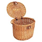 Lamptti Wicker Bike Basket Suitable For Mountain Bike and Electric Motorcycle.Multi-function Basket:Vegetable Basket Storage, Shopping Basket