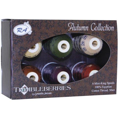 (Thimbleberries Cotton Thread Collection 500yd 6/pkg-autumn)