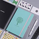 Bullet Journal - Lemome Dotted Numbered Pages Hardcover A5 Notebook with Pen Holder + Premium Thick Paper + Bonus Gifts (Mint Green)