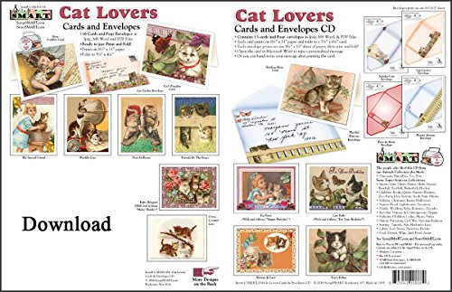 - ScrapSMART - Cat Lovers Cards & Envelopes Software Collection: Microsoft Word, Jpeg, and PDF files [Download]