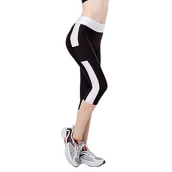 Fletion Femmes Filles Tight stretch flash Sport Yoga Courir Pantacourt Pantalon  Legging Compression Leggings de sport 091629b7426