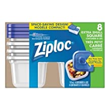 Ziploc Brand Containers, Extra Small Square (1x1 Short), 8 Count