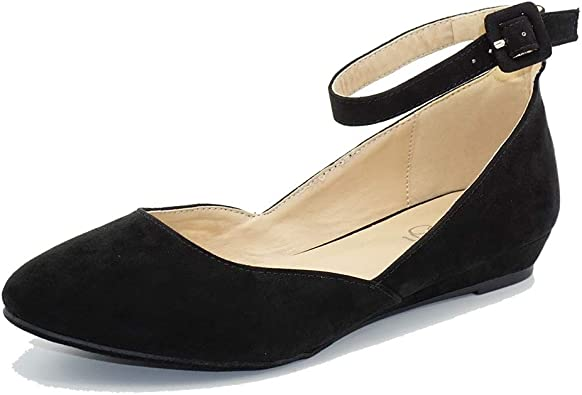 Women's Ballet Flat Pointed Toe Buckled