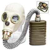 Polish MP3 Gas Mask with Hose, Filter and Transport Bag - Like New, Authentic Military Surplus, Protective Eye Lenses