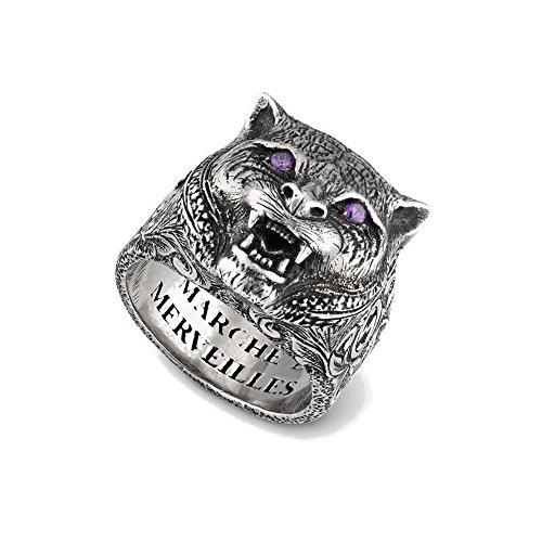 Gucci Garden Feline Head Ring 7 1/2(USA)-O 1/2(UK) YBC524585001016