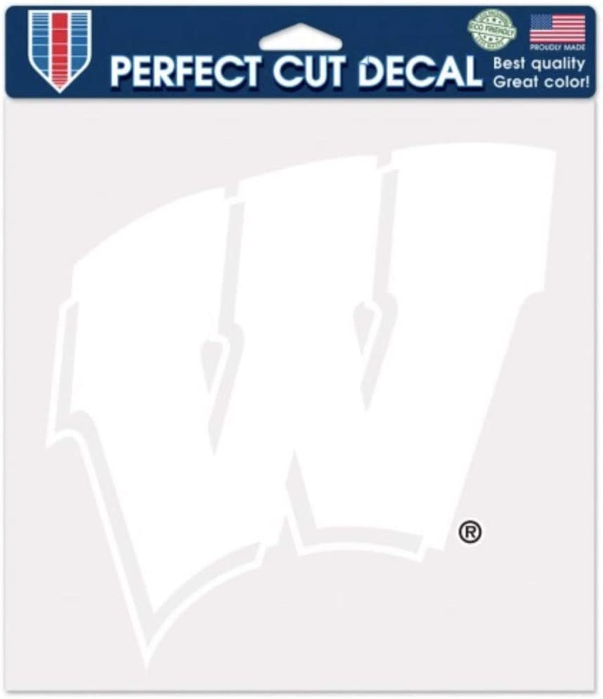 WinCraft NCAA University of Wisconsin Badgers 6 x 6 inch White Decal
