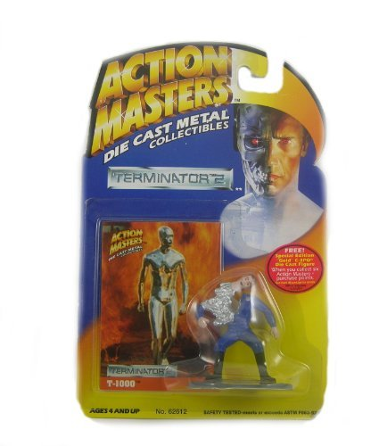 Action Masters 1994 Terminator 2 T-1000 Die Cast Mental Collectibles Includes Trading - Terminator T1000