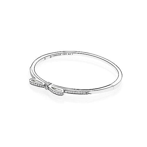 disponibilità nel Regno Unito 1ae05 cb83b Pandora Bangle Donna argento - 590536CZ-2: Amazon.it: Gioielli