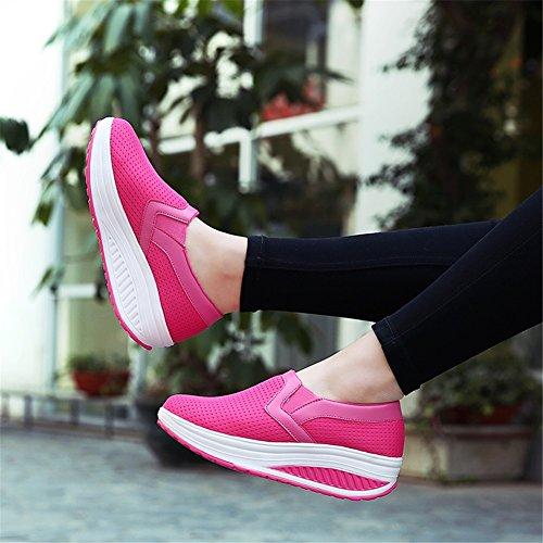 de Shake Flat B Tul Increaseslip Shoes Transpirable de Zapatillas Altura Zapatos Para Exing EN de Zapatos Verano Mujer Correr Casual Mocasines qxRZtFM0w