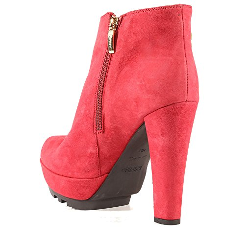 Boots Red High UK2 Suede Stunning Heel 35EU Ankle Evening Shoe Pinky w1x0qU