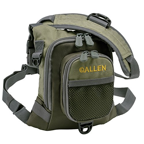 Allen Bear Creek Micro Fishing Chest Vest, Olive (Packs Fishing Chest Fly)