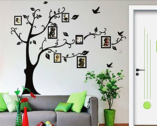 Photo Frames Wall Decal Tree For Kids Family Rooms Decal Home Art Vinyl Large Wall Stickers Waterproof Removable Pvc  Tree