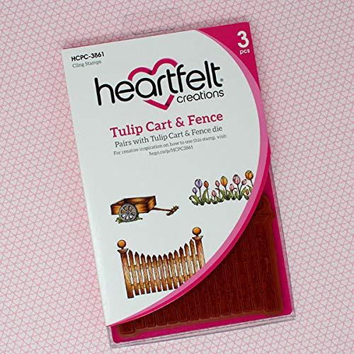 Bundle Heartfelt Creations Dies+Stamp Set Tulip Cart & Fence, HCD17221+HCPC3861
