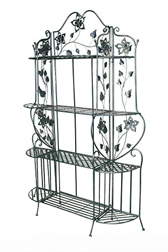 Heather Ann Creations W190941-BB Piper Large Bakers Rack, Blackened - Rack Bronze Kitchen Bakers